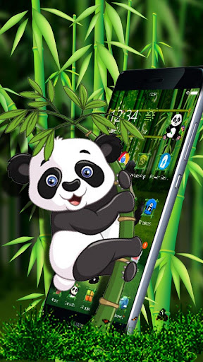 Cartoon Panda 3D Theme 1.1.1 screenshots 1