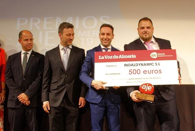Sergio Ruiz, Cajamar; Antonio Fernández, AJE; Ricardo Céspedes, director Comercial de La Voz; y Juan Fco. Pérez, Indaldynamic.