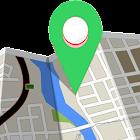 Localisation GPS - position en temps réel carte icon