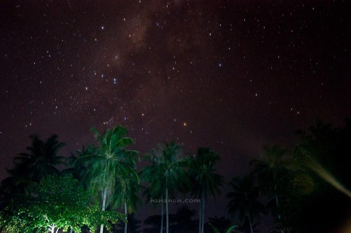 Milkyway dari Pantai Tanjung Kelayang