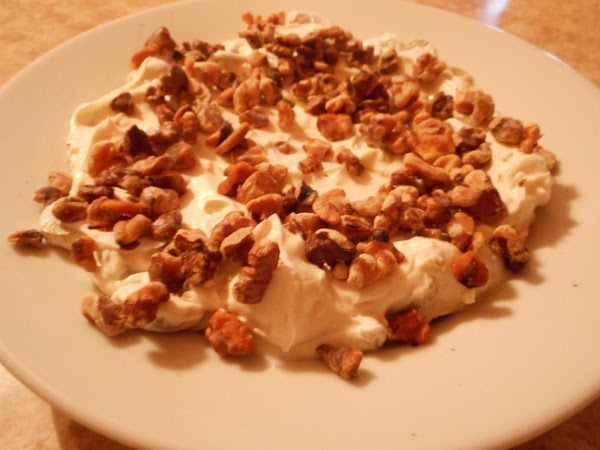 Sprinkle with toasted walnuts.