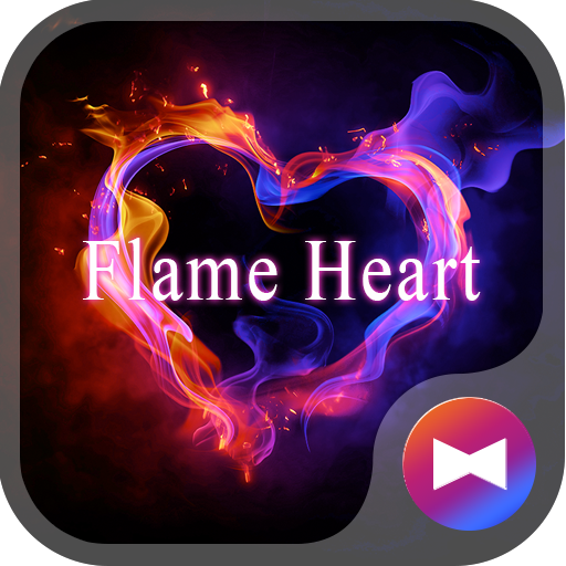Flame Heart +HOME Theme Icon