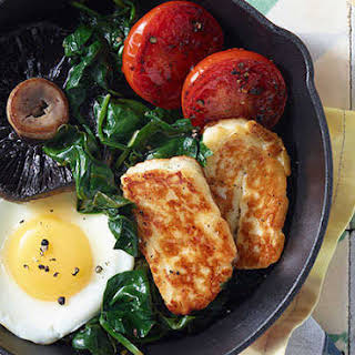 Classic Fry-up Recipe With A Halloumi Twist.