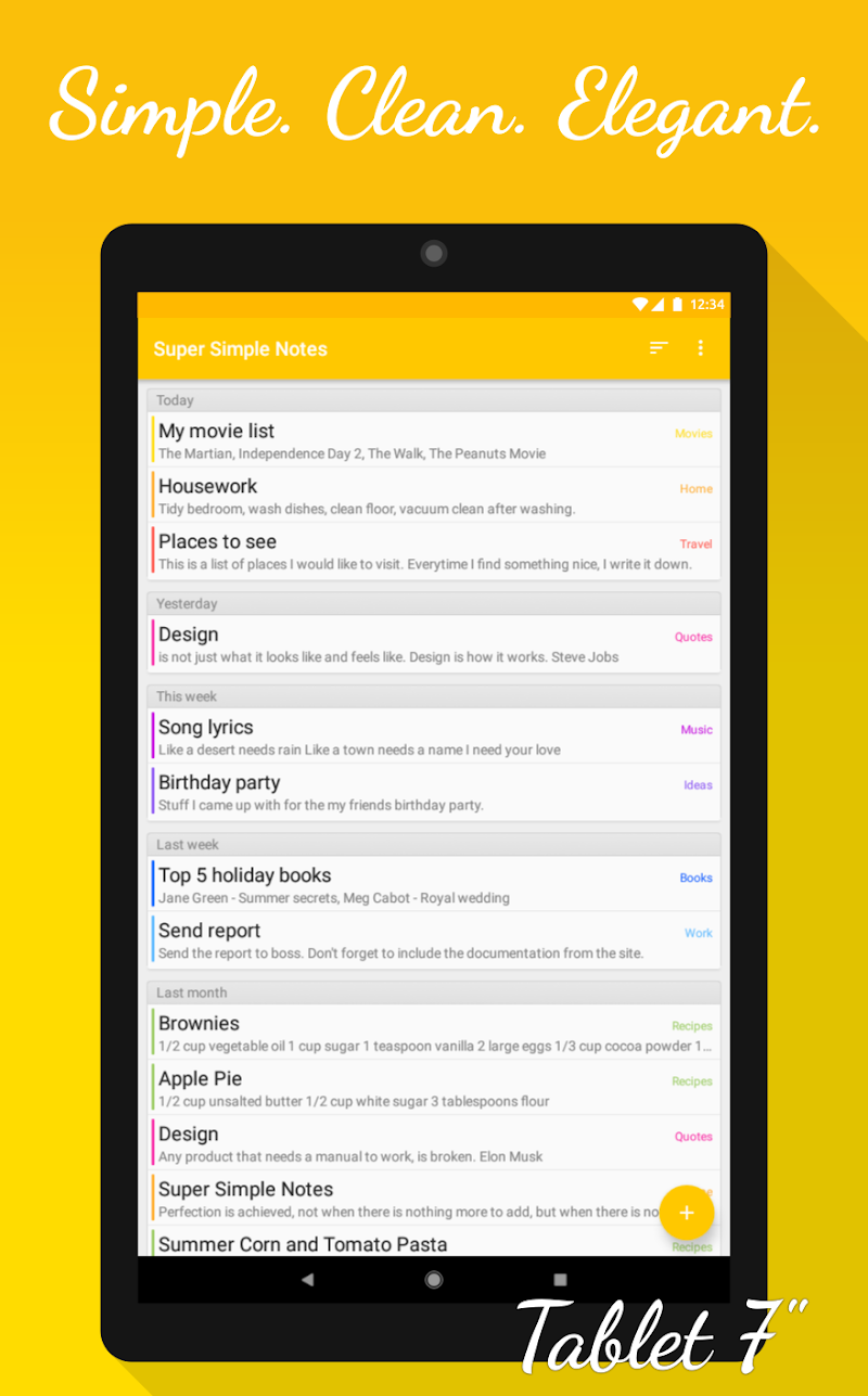 Notes (Super Simple Notes) Screenshot 8