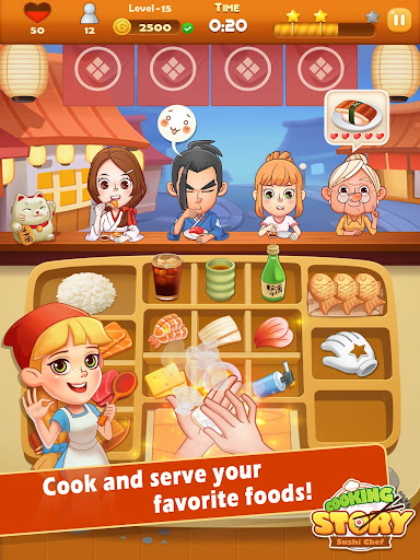 Sushi Master - Cooking story  captures d'u00e9cran 5
