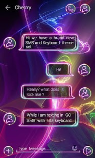 (FREE) GO SMS NEON THEME- screenshot thumbnail
