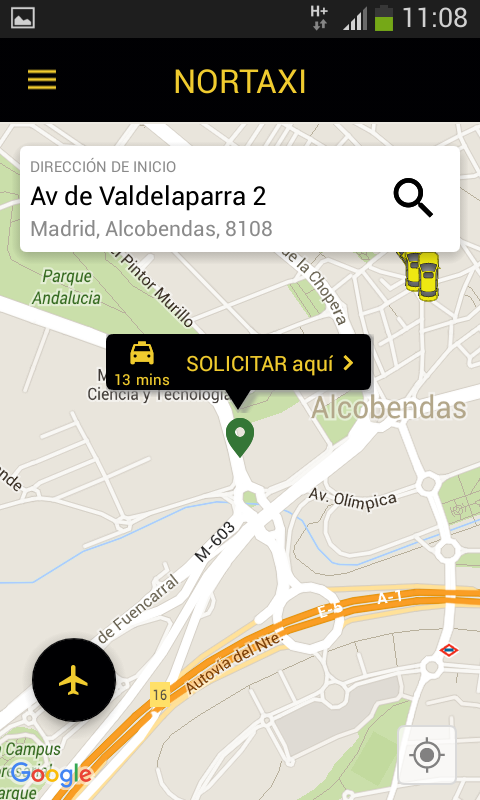 NORTTAXI: captura de pantalla