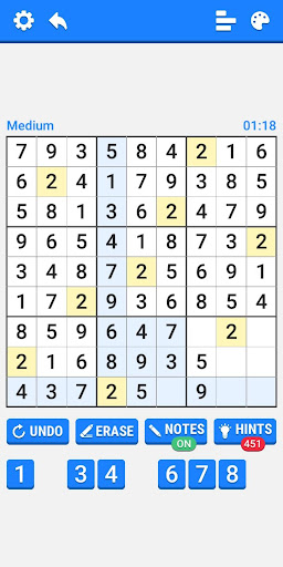 Medium Sudoku Puzzles 1.2.4 screenshots 3