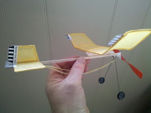 Photo: Balsa glider built by Scott and WWII vet Bill