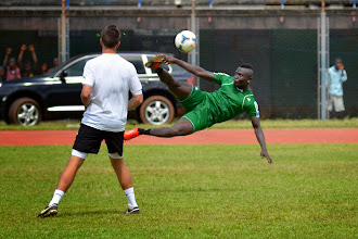 Photo: Alhassan 'Crespo' Kamara  [Leone Stars Training Camp, in advance of Equatorial Guinea game, Sept 2013 (Pic: Darren McKinstry)]