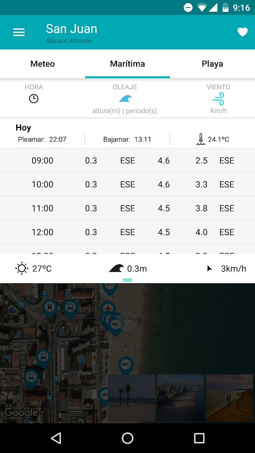 iBeach: Encuentra tu playa – Screenshot