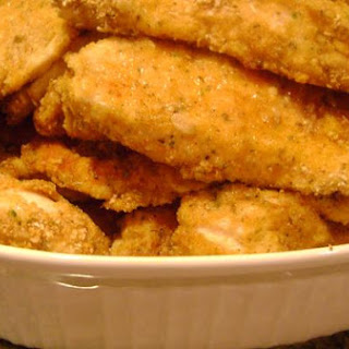 Oven Baked Chicken Strips.
