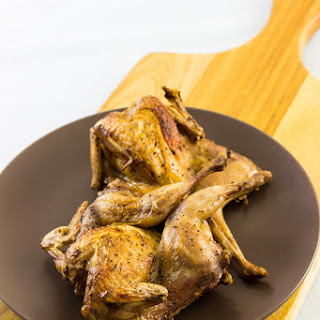 Baked Salt and Pepper Quails.