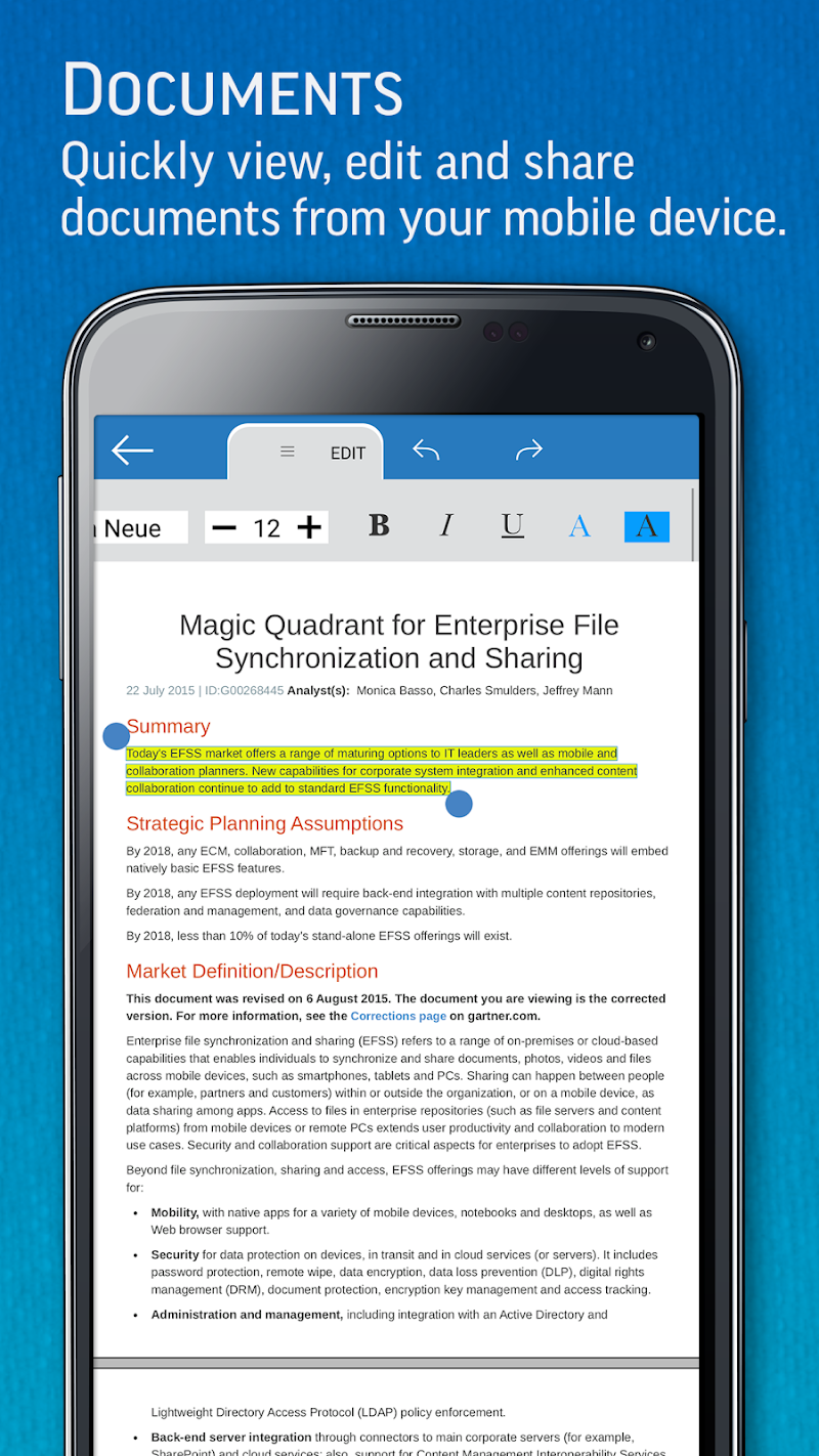 SmartOffice - View & Edit MS Office files & PDFs Screenshot 1