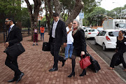 FEBRUARY 15, 2018. Lawyers arrive at the Bloemfontein Regional Court for appearance of five people who were arrested during Hawks raids on various Gupta compounds. The suspects were arrested in connection with investigations into the Free State Vrede dairy farm project.