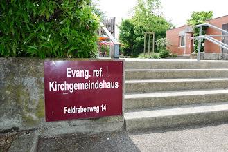 Photo: Unser zweites Konzert boten wir im reformierten Kirchgemeindehaus Feldreben in Muttenz