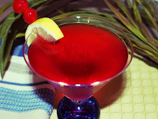 A Red Hat Scarlett Flozzie Vodka Martini Recipe