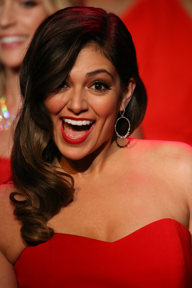 Bethany Mota smiles at Go Red for Women fashion show