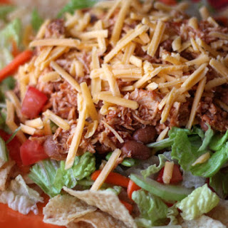 Chicken and Bean Taco Salad - In The Crockpot