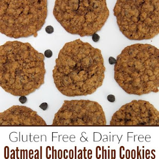 Gluten Free and Dairy Free Oatmeal Chocolate Chip Cookie
