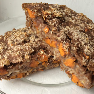 Toasted Coconut, Sweet Potato and Walnut Chocolate Protein Baked Oatmeal [Clean,Vegan, Gluten-Free]