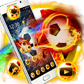 Crazy Football Flame theme
