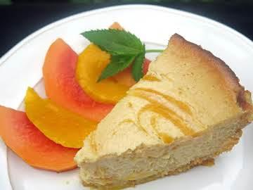 Mango-Swirl Key Lime Pie in Coco-Macadamia Crust
