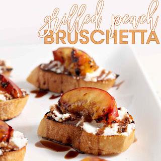 Grilled Peach Bruschetta