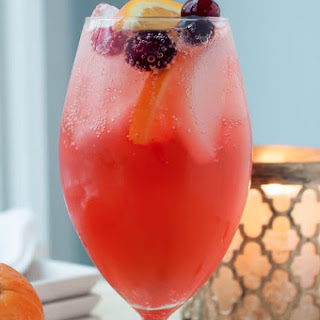 Sparkling Cranberry Orange Vodka Cocktail.