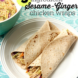 Sesame-Ginger Chicken wraps