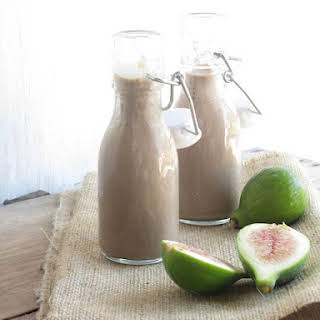 Fig and Carob Milkshake.