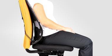 fauteuil bureau avec renfort lombaire dossier