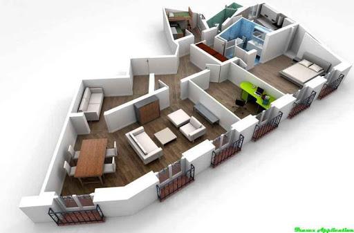 無料生活Appの3Dハウスプランのデザインのアイデア|記事Game