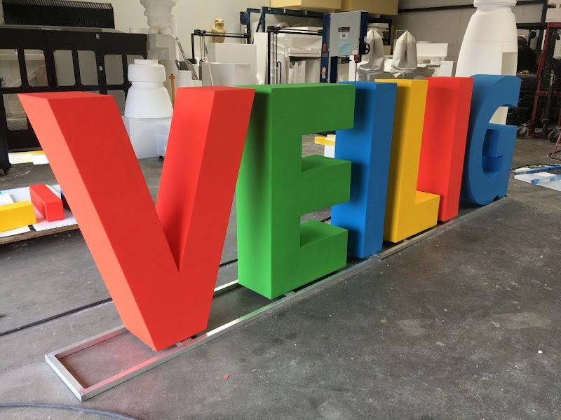 3D letters & logo's uit EPS en XPS - geschilderde 3D letters VEILIG