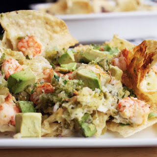 Shrimp Nachos With Tomatillo Salsa