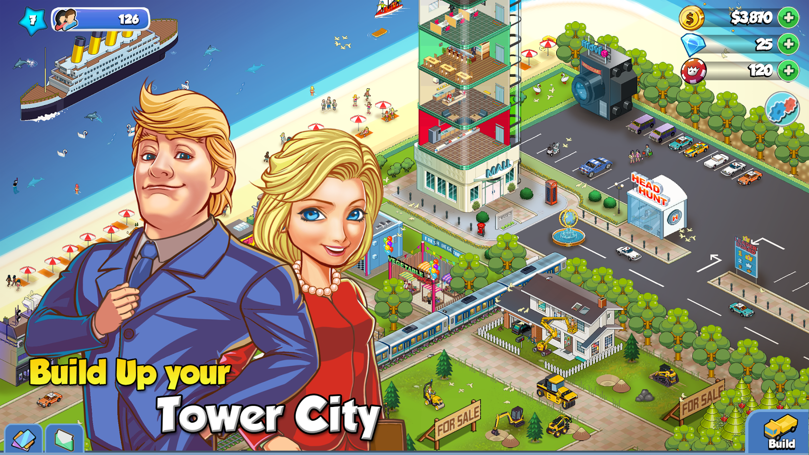Tower Sim: Pixel Tycoon City- screenshot