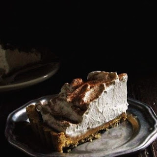 Cinnamon Dulce de Leche Tart with Whiskey Whipped Cream.