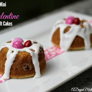 Easy Mini Valentine Bundt Cakes.