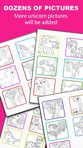 Pony Unicorn Coloring Book  screenshots 4