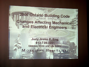 Photo: The evening's main program - this presentation was very well attended and received