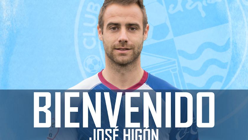 El extremo José Higón, nuevo jugador del CD El Ejido.