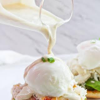Healthy Crab Eggs Benedict.
