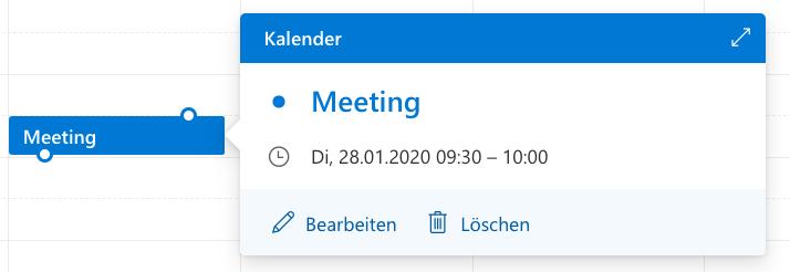 Screenshot aus Outlook mit Labels rechts neben Icons.