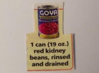 Add drained and rinsed canned  kidney beans, cook until heated through 2-4 minutes. Nice if served with...