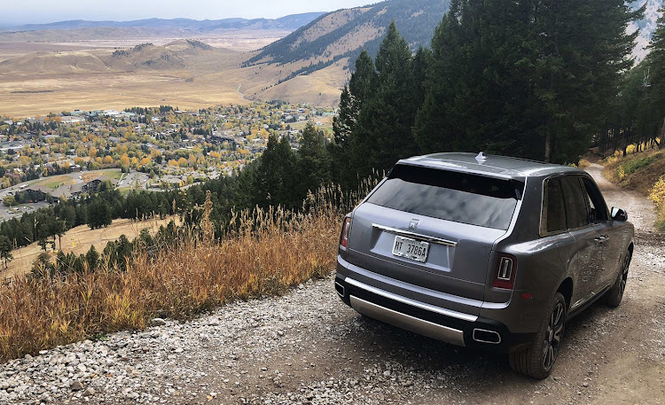 The Rolls-Royce Cullinan is more than capable of taking you up and down the occasional mountain pass.