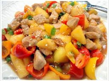 Peachy Pork Stir Fry- Goes Mexican Recipe