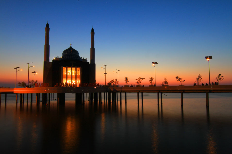 Floating Mosque by Akhmad Solihin - Buildings & Architecture Other Exteriors ( makassar, mosque, floating )