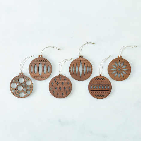 Laser Cut Walnut Ornaments