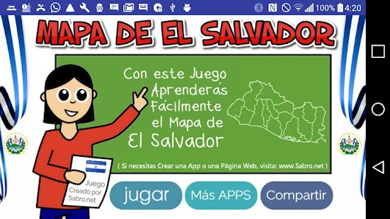Mapa de El Salvador- screenshot thumbnail