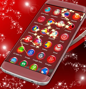 Launcher Theme Red Hd - náhled